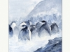 Pinguins in the mist